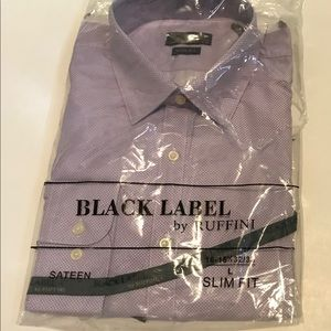 Black Label by Ruffini slim fit purple shirt
